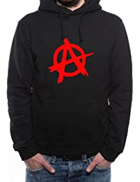 Mister Merchandise Homme Sweat à capuche Hoodie Anarchy Anarchie, Men Pull