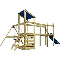 vidaXL Parque Infantil con Tobogán Columpios Madera 463x275x235 cm Juego Patio