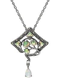 Esse Marcasite Collar con colgante Mujer plata - 214P2154-01