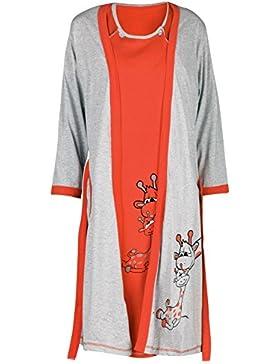 Happy Mama Donna vestaglia camicia notte set giraffe prémaman allattamento. 773p