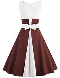 Valin M1372 Damen Rockabilly 50er Vintage Retro Kleid Partykleider Cocktailkleider