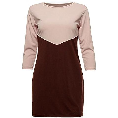 Baonoop_Las mujeres de la manera ocasional del mini vestido del otoño