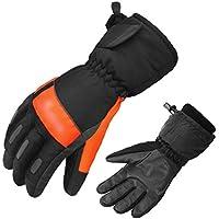 GUGEI Esquí al Aire Libre Guantes de Alpinismo Guantes cálidos Unisex Slip Ciclismo más Guantes de Terciopelo (Color : Sk04 Orange Gray, Size : L)