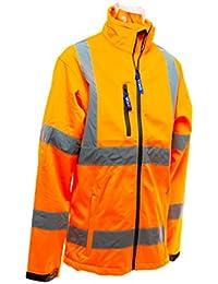 Yoko Hi-Vis Softshell Jacket - Hi-Vis Yellow - size L