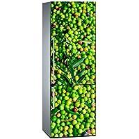 Oedim Vinilo para Frigorífico Aceitunas Verdes 200 x 70 cm | Adhesivo Resistente y de Fácil