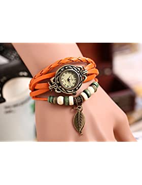 Viskey Damen-Armbanduhr mit Schmetterling-Anhänger, Vintage-Look