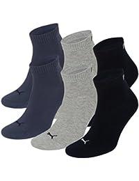 Puma Quarter - Chaussettes de Sport - Lot de 3 - Uni - Mixte Adulte