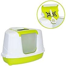 Moderna Bandeja Sanitaria Cubierta Rinconera para Gato - Sanitario Toilet - Flip Corner- Color Pistacho