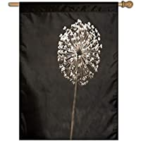 Kotdeqay Vintage Country Garden Floral Roses Flowers House Flag Banner for Outdoor House Flower D1