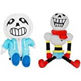 Undertale Set of 2 Cute 12-inch SANS and 16-inch PAPYRUS Plush Stuffed Doll Toy