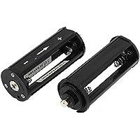 sourcingmap® Plastica Cilindro Forma 3 x 1.5V AAA Portabatterie Case Immagazzinamento 2 Pezzi - 1.5 Case