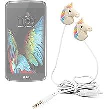 DURAGADGET Auriculares estéreo con diseño de unicornio arcoiris para smartphone LG G350 , G5 , K10 , K3 , K4 , K5 , K7 3G , K7 LTE , K8 V , K8 , Optimus Zone 3 , P780