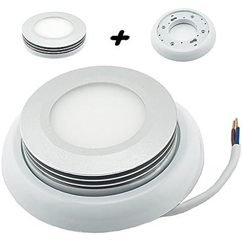 Bonlux, a LED, Gx53 5 W, luce bianca calda, colore: bianco freddo, metallo, Bianco freddo, gx53, 5.00 wattsW 220.00 voltsV