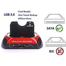 Ronsen 876C Hard Disk Drive Docking Station - USB 3.0 Dual Puerto Bases de Conexión (Sata Disk Drive)