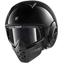 Shark Casco Moto Raw Blank, negro, talla XL