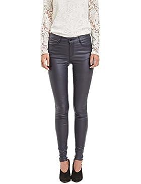 Vila Vicommit RW New Coated-Noos, Pantalones para Mujer