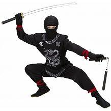 Widmann 74526 Kinder Kostüm Black Ninja