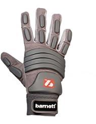 FLG-03 guantes de fútbol americano linemen pro , OL,DL (Gris, L)