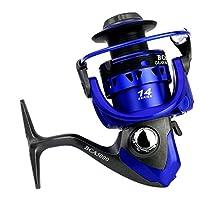 XUMI Carretes de Pesca Giratorios Carrete de Metal Serie 2000-7000 5.5: 1 Rueda Giratoria PA66 Material Baitcasting Reel,Azul,6000