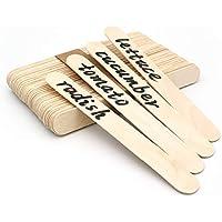 KINGLAKE 100 Pezzi 15cm Bastoncini di Legno Naturale, Bastoncini di ghiacciolo per Gelato, Bastoncini di Lecca-Lecca per l'artigianato Fai da Te, Etichette di Piante in Legno