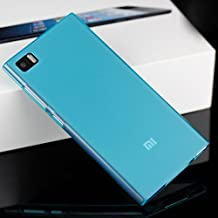 Prevoa ® 丨 FUNDA SILICONA de GEL TPU NEGRA para XIAOMI Mi3 / M3 --Color Azul + protector de una pantalla