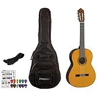 Yamaha CGX serie Cgx102 clásica bolsa de guitarra eléctrica Bundle ...