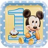 Mickey Mouse 1st cumpleaños grandes platos de papel (8CT)