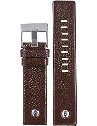26mm oscuros banda reemplazos de reloj de cuero de alta calidad de color marrón arrugada únicos