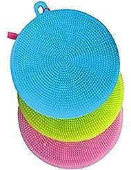 Silicone brosse 3pc (Rose Bleu Vert)