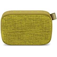 Energy Fabric Box 1+ Pocket Kiwi - Altavoz portátil (TWS, Bluetooth v4.2, 3W, USB & microSD MP3, FM Radio, Audio-In), Color Verde (Kiwi)