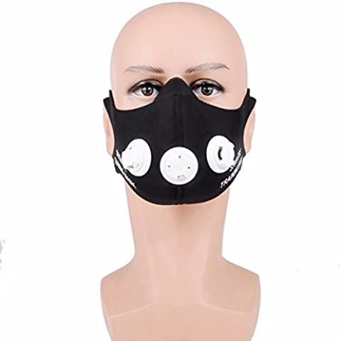 outerdo shig Aste Entrenamiento Mask Sport Máscara respiratoria Máscaras de fitness para Elevation Training Mask 2.0anaerobem Entrenamiento Altura Entrenamiento, Größe : M