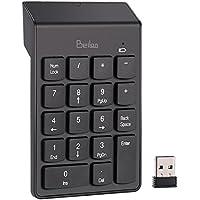 2,4GHz Nummernblöcke - BeiLan 18 Tasten Drahtlose Numerische Tastatur Kabellos mit Mini USB Empfänger für Macbook Laptop Notebook Desktop PC Computer Kompatibel mit Windows und OS System