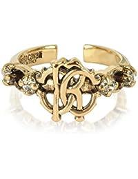 Roberto Cavalli Women's GQG740AM008D0615 Gold Metal Ring