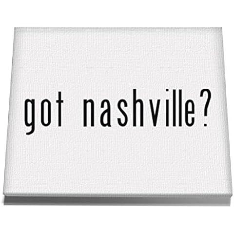 Teeburon Got Nashville? Tela muro arte 12 x 8 Inch