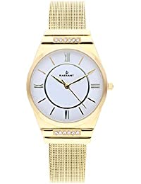 7b16a6e24243 Radiant Aura Reloj para Mujer Analógico de Cuarzo con Brazalete de Acero  Inoxidable bañado en Oro