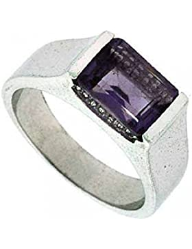 Eleganter Ring mit Amethyst, Sterling Silber