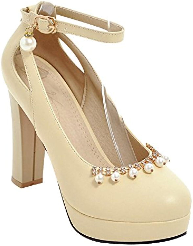 Carolbar Womens Platform Sweet Lovely Beaded High Heel Pu Heels Shoes Gamesworld 27914 Court B07css862w Parent C6a2534
