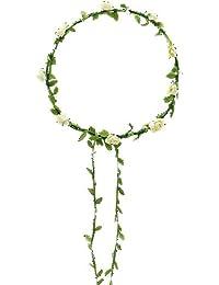 Bluelans® Haarkranz Blumen Damen Mädchen Hochzeit Kommunion Blumenhaarkranz