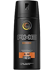 AXE Deospray Moschus ohne Aluminium 150 ml, 3er Pack (3 x 150 ml)
