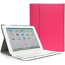 iPad 2 3 4 Funda con Teclado Bluetooth ,CoastaCloud iPad 2/3/4 Funda Cubierta Protectora con Teclado Inalambrico QWERTY Español para Apple iPad 2 (A1395 A1396 A1397) ; iPad 3 (A1416 A1430 A1403); iPad 4 (A1458 A1459 A1460)Rosa