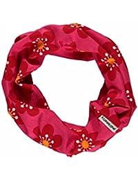 MAXOMORRA Mädchen Schal Pink Blume Schlauch Anemone BioBaumwolle Gots