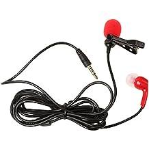 Gazechimp Micrófono de Solapa Lavalier para Grabación de Audio Skype Chat Videoconferencia Discurso Conferencias Enseñanza - Rojo