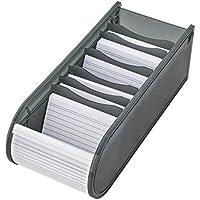 Wedo 2508012 - Fichero didáctico, caja para fichas A8 500 llena, color gris