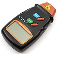 CITTATREND-Tacómetro Láser Giratorio Velocímetro Taquímetro Medidor Portátil Cuentarrevoluciones Tester Automático Pantalla LCD con 1 Batería 6F229V