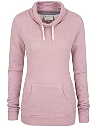 Mountain Warehouse Bramberling Womens Hoodie - Cowl Neck Ladies Sweatshirt, Kangaroo Pocket, Combed Cotton Spring Jacket, Easy Care - for All Season Travelling, Daily Use