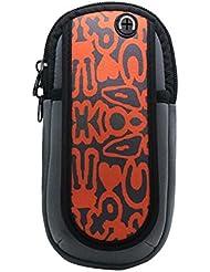 Sac de bras de pied de course en plein air Sac de téléphone portable créatif, motif de mots