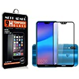 MOBI Armor 5D Full Glue Tempered Glass Full Edge-to-Edge Screen Protection For Huawei Honor P20 Lite - Black - Limited Time Launch Offer