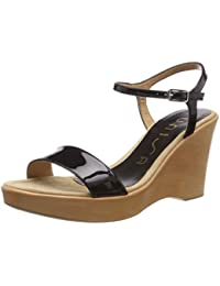 31b8f08800f Amazon.fr   Cuir - Sandales   Chaussures femme   Chaussures et Sacs