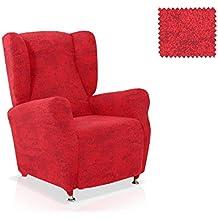 Funda sillón Orejero Testos Tamaño 1 plaza (Estándar), Color Rojo (varios colores disponibles)