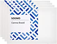 Amazon Brand - Solimo Medium Grain Cotton Canvas Board, 6 x 8 inch, Set of 4